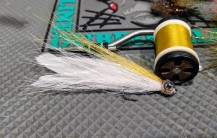 First try at a Deceiver, with real bucktail. It's not pretty at all, but it might fish.