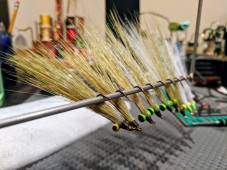 Clousers tied with Flymen's Faux Bucktail (olive/yellow, olive/white, all white - various weights)