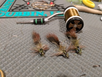Clouser Swimming Nymph (hook-up version)