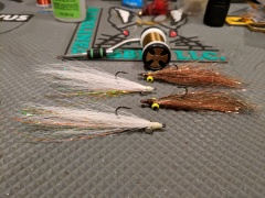 Bucktail Clousers (left) and some Synthetic Clousers (right)