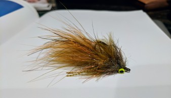 Single hook Chowtime Sculpin, close up