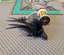 A black topwater diver for night fishing.
